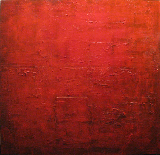 In red, 2008, mixta stela,